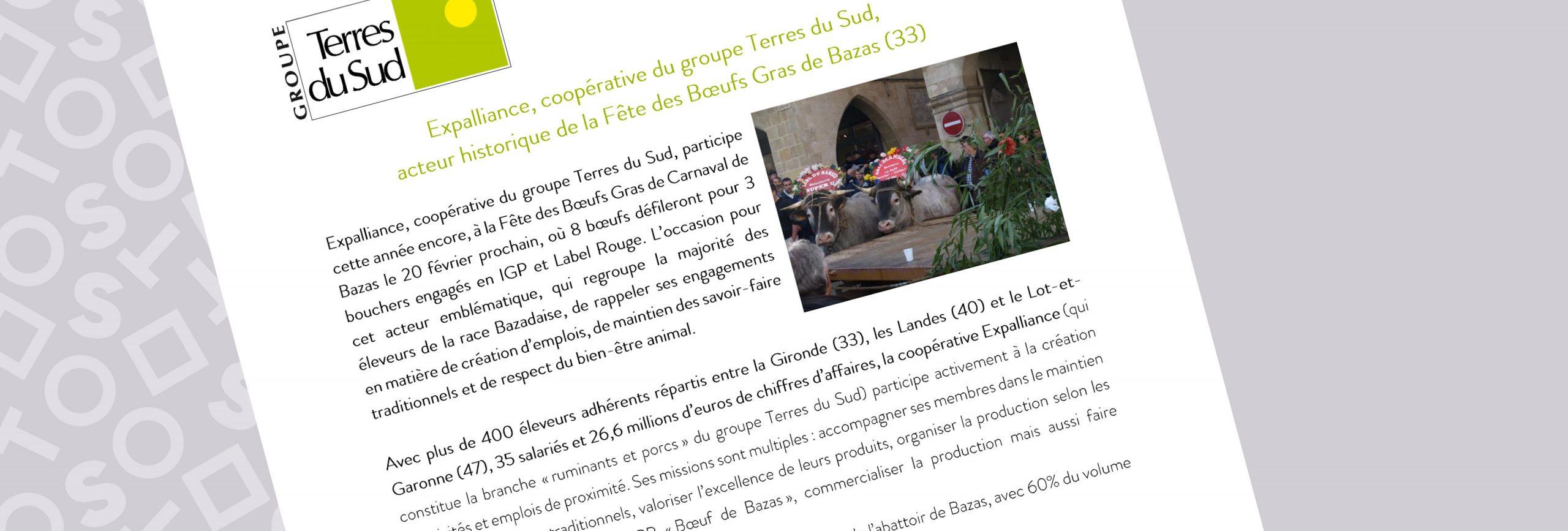 Communiqué de presse groupe terres du sud boeufs gras 2020