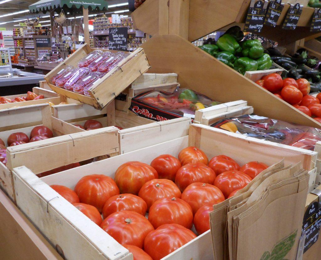 Legumes et fruits frais au gamm vert nature de villeneuve sur lot le gout de nos campagnes