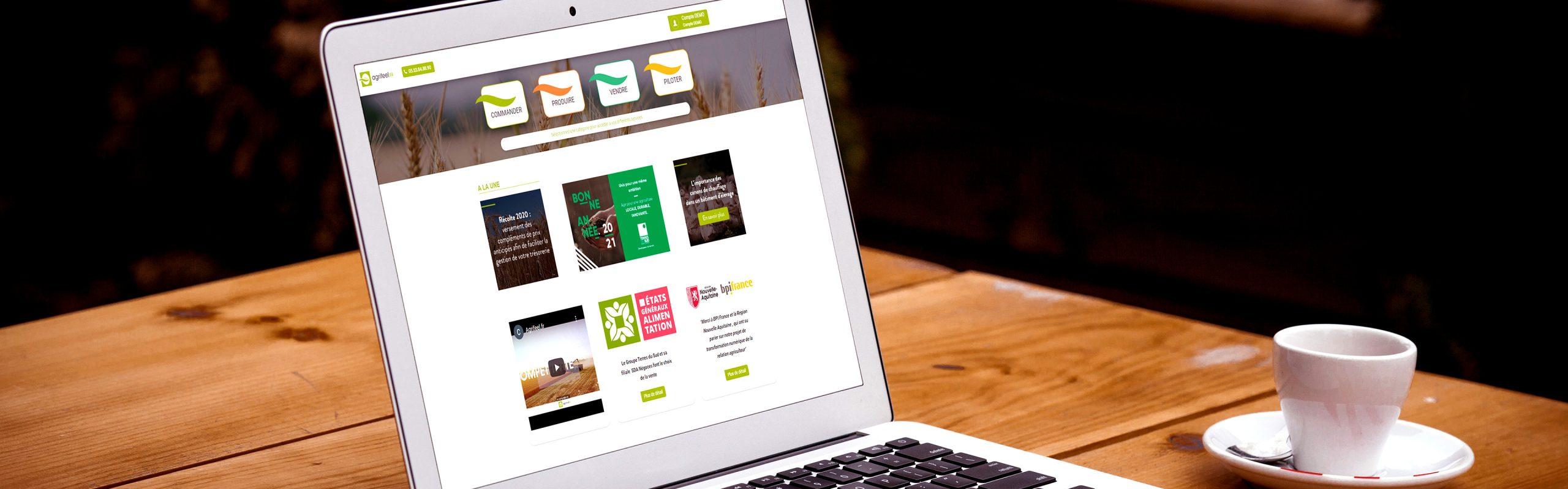 Agrifeel.fr, la 1ere plateforme digitale du secteur agricole tout-en-un du groupe terres du sud
